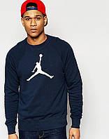 """Свитшот синий Jordan  ( Джордан ) большое лого """""""" В стиле Jordan """""""""""