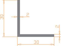 Алюминиевый уголок 30х30х2 анодированный (AS)