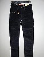 Вельветовые брюки на флисе для девочек Seagull 134,158рр