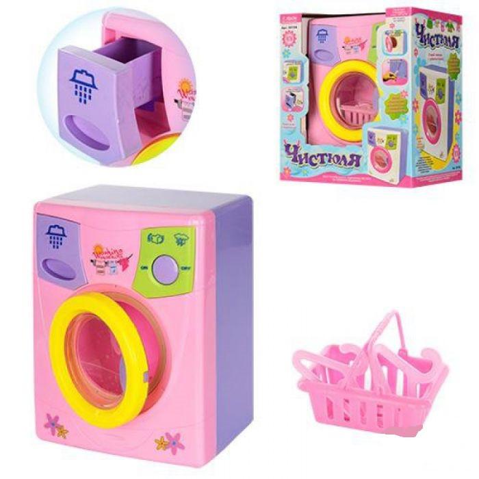 Іграшкова дитяча пральна машина 2010А з обертовим барабаном і аксесуарами (2 кольори)
