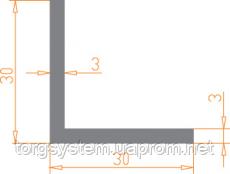 Алюмінієвий куточок 30х30х3 анодований (AS)
