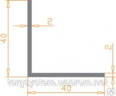 Алюминиевый уголок 40х40х2 без покрытия