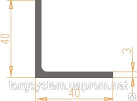 Алюминиевый уголок 40х40х3 анодированный (AS)