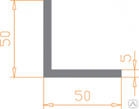 Алюминиевый уголок 50х50х5 анодированный (AS)