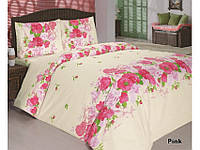 Комплект постельного белья Classi 1,5 Сп. 145x210 Flora Розовый