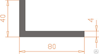 Алюминиевый уголок 80х40х4 без покрытия
