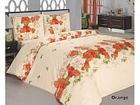 Комплект постельного белья Classi 1,5 Сп. 160x215 Flora Оранжевый