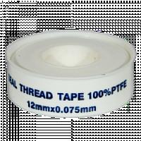 Фум — стрічка біла 1,2 мм х 0,075 мм х 8м.
