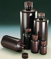 Узкогорлая бутыль, Тип Economy, полиэтилен высокой плотности, коричневая [EN]: Narrow neck bottle 125 ml, HDPE amber