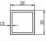 Алюмінієва Труба квадратна ПАС-0131 20х20х1.5 / AS Срібло