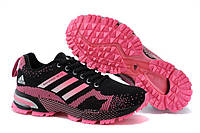 Женские беговые кроссовки Adidas Marathon 13 (адидас маратон, адидас марафон) розово-черные