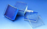 Коробка для хранения, полихлоропрен, для криопробирок Дляпробирок 3, 4 и 5 мл Для резьбыGL внешняя Кол-вомест 81 шт Ширина 132 мм Глубина 132 мм Высот