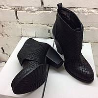 Женские осенние ботинки кожа