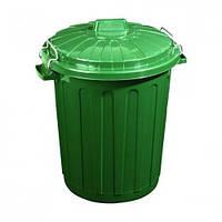 Контейнер для отходов Диаметр 430 мм Высота 570 мм Цвет зеленый Объем 46 л