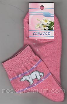 Носки женские махровый след х/б Смалий, 23-25 размер, рисунок 01 розовые