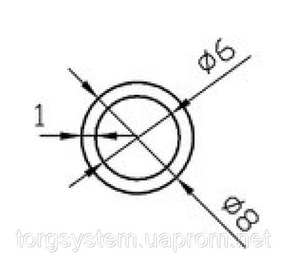 Алюмінієва Труба кругла ПАС-1555 8х1 / AS Срібло