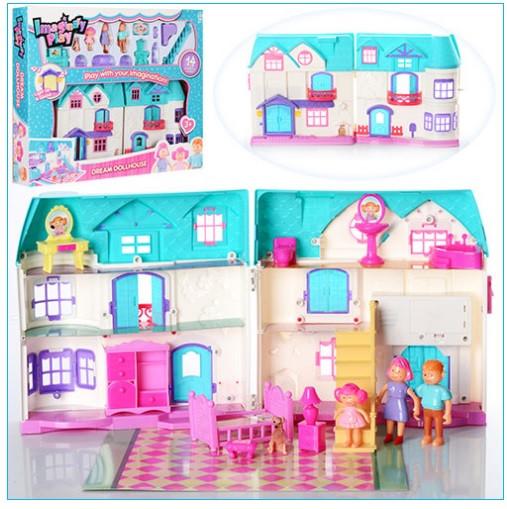 Дитячий ігровий ляльковий будиночок для дівчинки 1205CD будиночок для ляльок (2 види)