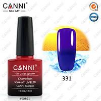 Термо гель-лак CANNI №331 (темно-синий - фиолетовый), 7.3 мл