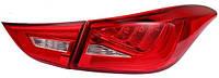 Фары оптика задние Hyundai Elantra MD крас/LED LUX