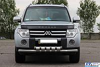 Кенгурятник  Mitsubishi Pajero Wagon (2006-)  /ус двойной SHARK