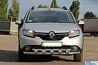 Кенгурятник  Renault Sandero Stepway (2012-) /ус двойной SHARK, фото 1
