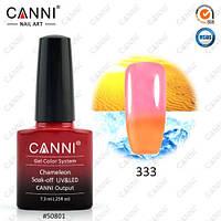 Термо гель-лак CANNI №333 (пастельный оранжевый - светлый розовый), 7.3 мл