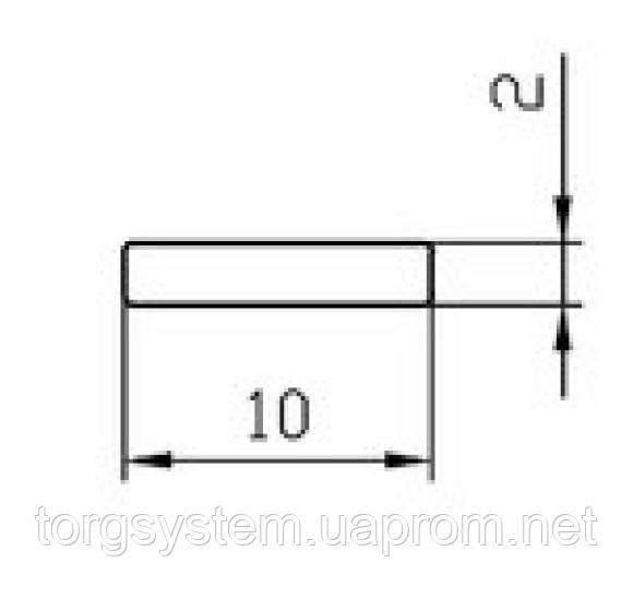 Алюминиевая полоса (шина) 10х2 анодированная (AS)