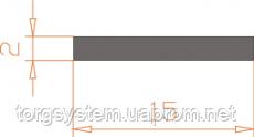 Алюминиевая полоса (шина) 15х2 анодированная (AS)