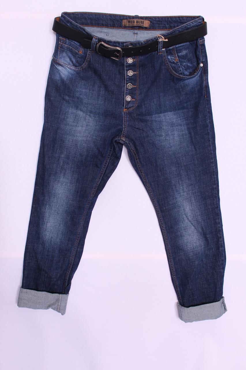 Женские джинсы бойфренды Red Blue большого размера