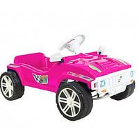 Машинка для катання ПЕДАЛЬНА яскраво-рожева ОРІОН 792