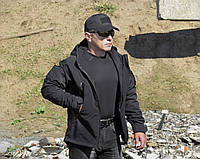 Куртка тактик Black(softshell)