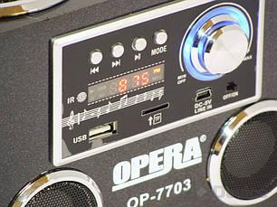 Портативная колонка Opera OP-7703 USB 220V, фото 2