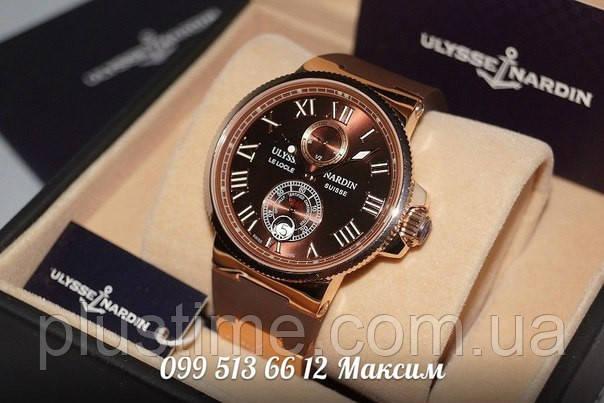 Мужские механические часы Ulysse Nardin Maxi Marine Brown ААА класс, фото 1 23ec33f485d