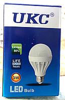 Лампа светодиодная энергосберегающая LED E27 3W (Белый свет) UKC
