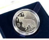 "Серебряная монета ""Телец"", фото 1"