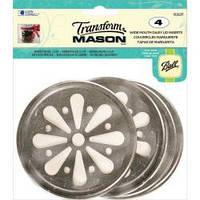 Вставка в кольцо для банки Ball Mason Jars с широким горлом Silver Daisy Wide Mouth (89241218603)