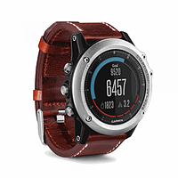 Fenix 3 Sapphire Performer Bundle Silver with Leather Band наручный навигатор Garmin