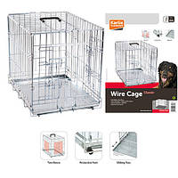 Клітка для собак Karlie-Flamingo wire cage двухдверна, хромована, 93*57*62 см 1030064