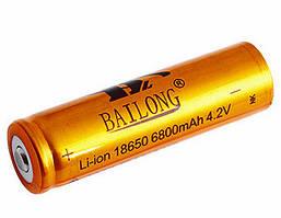 Аккумулятор Bailong Li-ion 18650 6800mAh Золотистый