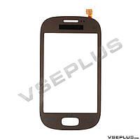 Тачскрин (сенсор) Samsung S5292 Star Deluxe Duos, коричневый