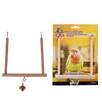 Игрушка для птиц  wooden swing s деревянные качели с колокольчиком Karlie-Flamingo , 13*12 см