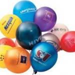 Рекламная печать на воздушных шарах Сливовый