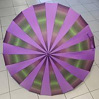 Зонт-трость женский, сиреневый, 24спицы, купол 104 см