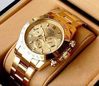Мужские часы Rolex Daytona Gold AAA наручные механические на стальном браслете с датой и автоподзаводом