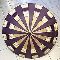 Зонт-трость женский, разноцвет, 24спицы, купол 104 см