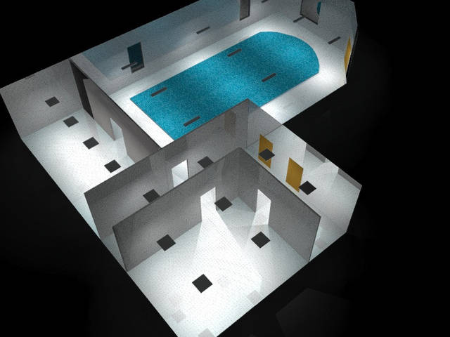 Проект освещения бассейна 78