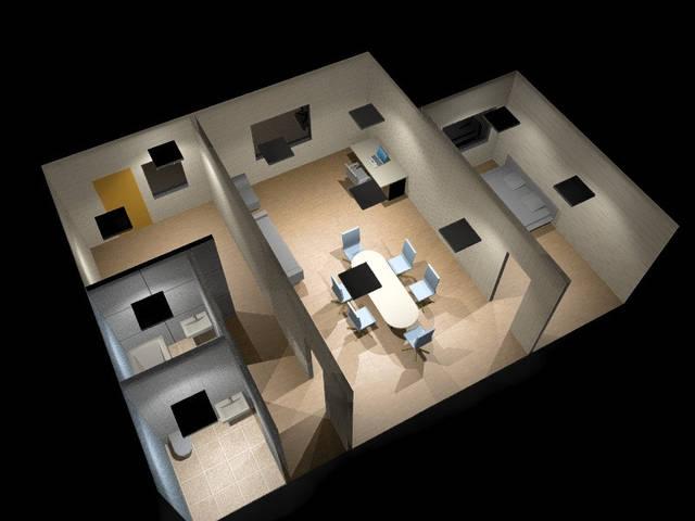 Проектирование освещения квартиры, пример CAD-видео от Sunpower.ua
