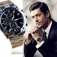 """Мужские кварцевые наручные часы """"M&H"""" с браслетом"""