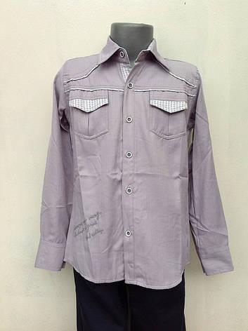 Рубашка для мальчиков 128,140,152,164 роста Хлопок натуральный, фото 2