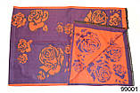 Кашемировый палантин Роза фиолетовый, фото 3